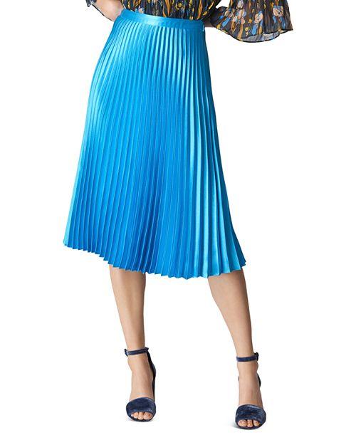 Whistles - Pleated Satin Skirt