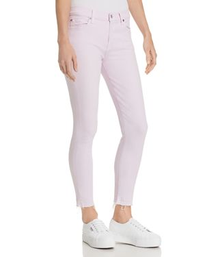 7 For All Mankind The Ankle Skinny Jeans in Pale Lavender 2961749