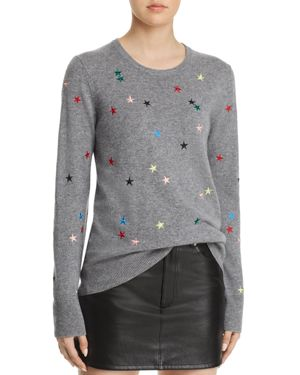 Shane Star Embroidered Sweater, Heather Gray Multi from EQUIPMENT