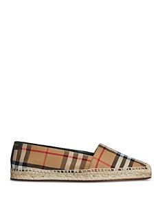 Burberry - Women's Hodgeson House Check Espadrille Flats