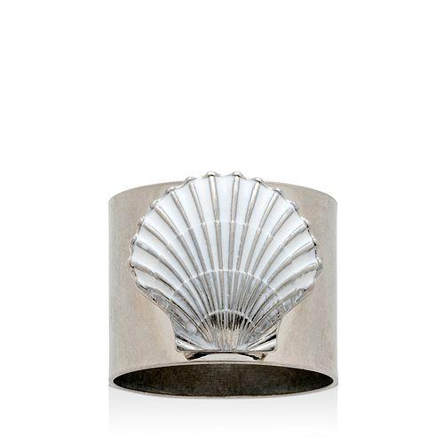 Joanna Buchanan - Painted Shell Napkin Rings, Set of 2