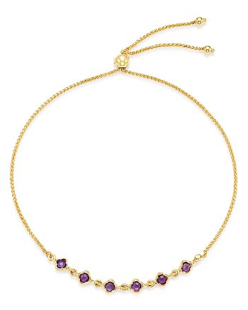 Bloomingdale's - Amethyst Mini Clover Bolo Bracelet in 14K Yellow Gold - 100% Exclusive