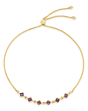 Bloomingdale's Amethyst Mini Clover Bolo Bracelet in 14K Yellow Gold - 100% Exclusive