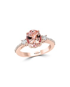 Bloomingdale's Morganite Oval & Diamond Statement Ring in 14K Rose Gold - 100% Exclusive _0