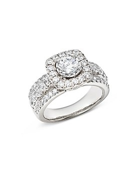Bloomingdale's - Diamond Halo Engagement Ring in 14K White Gold, 1.95 ct. t.w. - 100% Exclusive