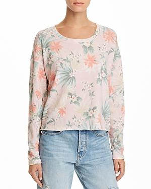 Sundry Tropical Print Sweatshirt