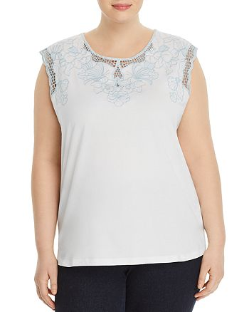 JUNAROSE Plus - Floral-Embroidered Top