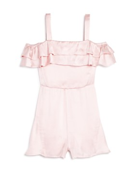 Bardot Junior - Girls' Ruffled Shiloh Satin Romper - Big Kid