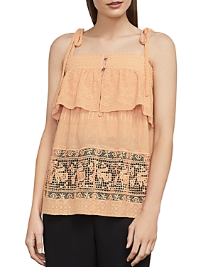 Bcbgmaxazria Sleeveless Embroidered Top