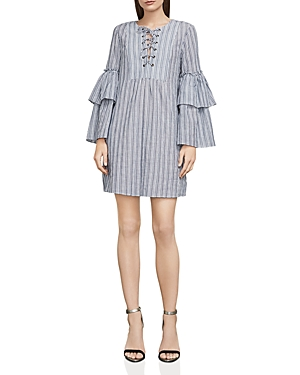 Bcbgmaxazria Charlyze Lace-Up Striped Dress