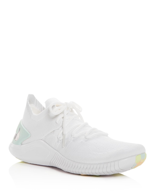 Nike Women's Free Tr 3 Flyknit Rise Lace Up Sneakers