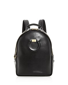 Salvatore Ferragamo - Large Gancio City Calfskin Backpack