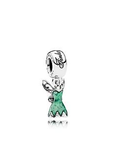 PANDORA Sterling Silver & Enamel Disney Tinker Bell's Dress Charm - Bloomingdale's_0