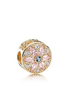 PANDORA 14K Gold & Crystal Opulent Floral Charm - Bloomingdale's_0