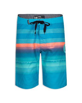 Hurley - Boys' Gaviotas Stripe-Print Board Shorts - Little Kid