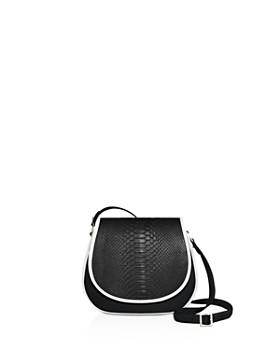 1 Atelier - Mini Leather & Python Saddle Bag