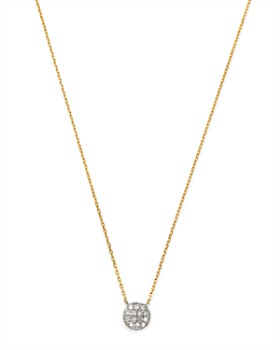 Moon & Meadow - Diamond Circle Pendant Necklace in 14K White & Yellow Gold, 0.04 ct. t.w. - 100% Exclusive