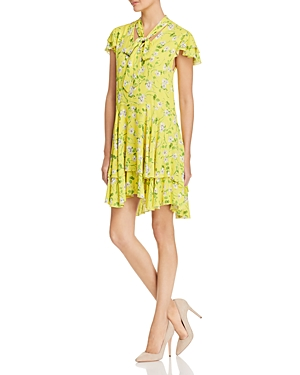 e534201481 Alice And Olivia Alice + Olivia Moore Floral Tie-Neck Tunic Dress In Spring  Primrose