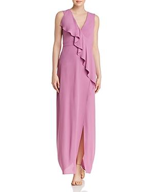 Bcbgmaxazria Ruffled Georgette Gown
