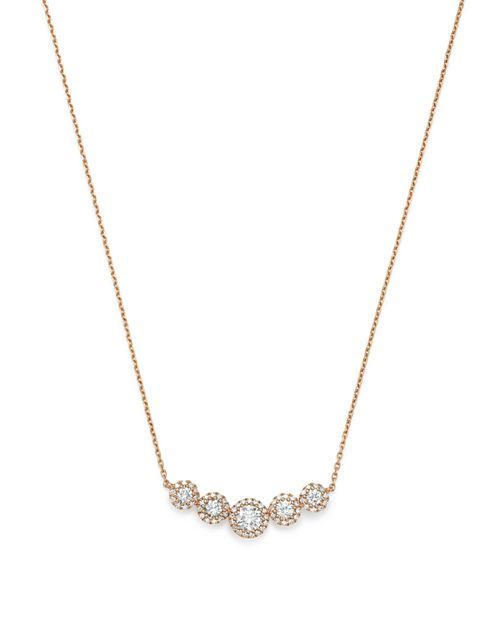 Bloomingdale's - Diamond Bezel Row Necklace in 14K Rose Gold, 0.50 ct. t.w. - 100% Exclusive