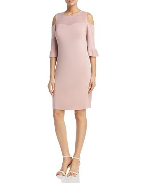 Nic+Zoe Cold-Shoulder Pointelle Dress