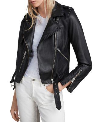 $ALLSAINTS Balfern Leather Biker Jacket - Bloomingdale's