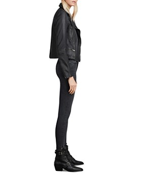 ALLSAINTS - Cargo Quilted Leather Biker Jacket