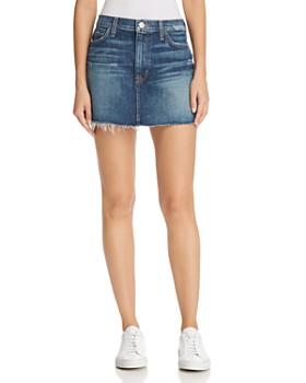 Hudson - Vivid Cutoff Denim Mini Skirt in Fortune