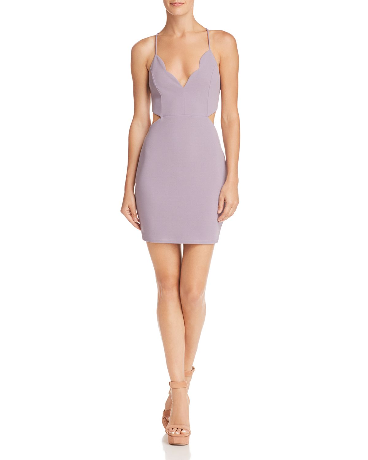 Scalloped Cutout Dress   100 Percents Exclusive by Sunset & Spring