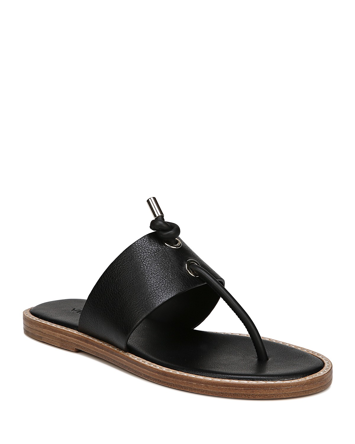Vince Women's Caelan Leather Thong Sandals lBeV3t