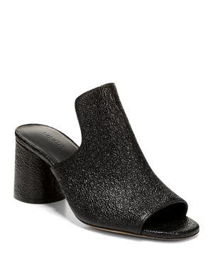 Vince Women's Tanay Leather High-Heel Slide Sandals