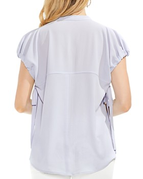 VINCE CAMUTO - Drawstring-Sleeve Top