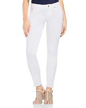 Vince Camuto Frayed Skinny Jeans in Ultra White-Women
