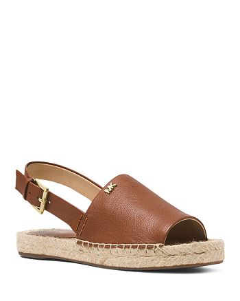 MICHAEL Michael Kors - Women's Fisher Leather Espadrille Sandals