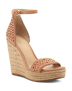 Botkier - Women's Jamie Perforated Leather Espadrille Wedge Sandals