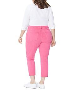 NYDJ Plus - Sheri Slim Frayed Ankle Jeans in Begonia