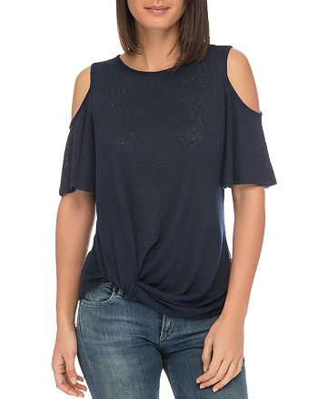 B Collection by Bobeau - Alison Cold-Shoulder Tee