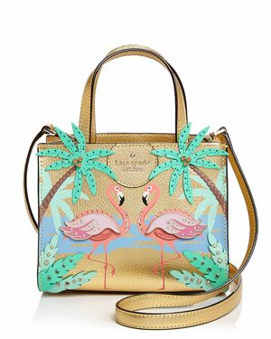 kate spade new york By The Pool Flamingo Small Sam Leather Crossbody 2977902