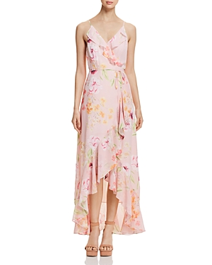 Yumi Kim MEADOW HIGH/LOW FLORAL WRAP DRESS