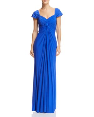 DECODE 1.8 Twist-Front Gown in Royal