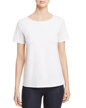 WEEKEND MAX MARA Short Sleeve T-Shirt in White