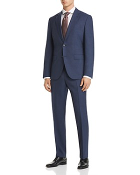 BOSS - Johnstons/Lenon Regular Fit Textured Micro Check Suit