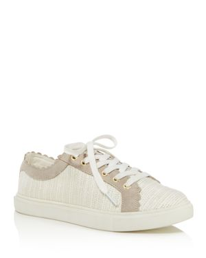 Jack Rogers Women's Scalloped Suede & Tweed Low Top Lace Up Sneakers 2967365