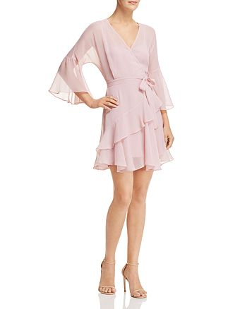 5021e9a9b3f FRENCH CONNECTION Ellette Ruffled Faux-Wrap Dress | Bloomingdale's