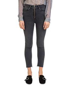 The Kooples - Black Nory Cropped Skinny Jeans