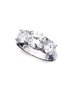 CRISLU Classic Three Stone Ring in Silver