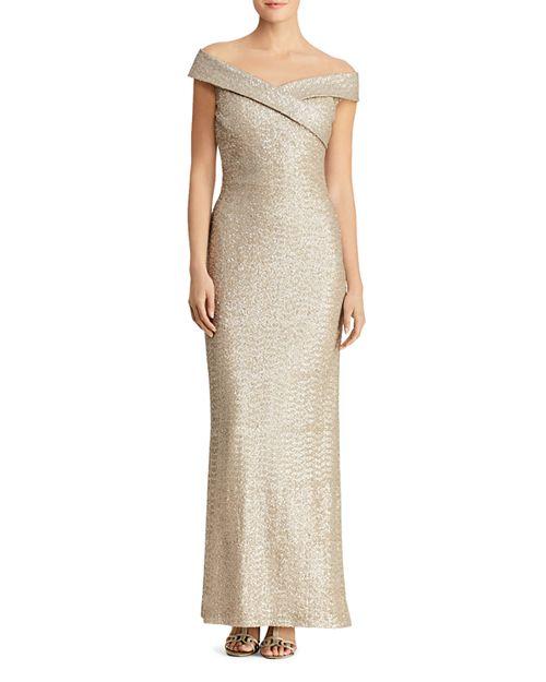 Ralph Lauren Sequined Off-the-Shoulder Gown | Bloomingdale\'s