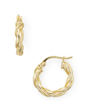 AQUA - Spiral Huggie Hoop Earrings in 18K Gold-Plated Sterling Silver or Sterling Silver - 100% Exclusive