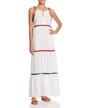Red Carter - In Stitches Tiered Maxi Dress Swim Cover Up