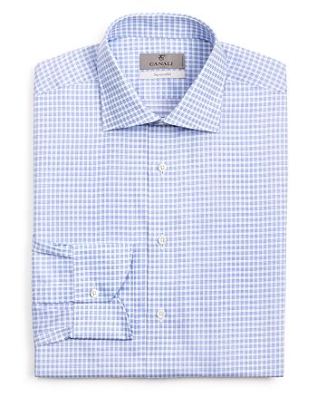 5d5fb45ebd0 Canali - Multi Check Regular Fit Dress Shirt